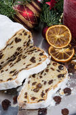 Homemade Christmas Stollen — Stock Photo