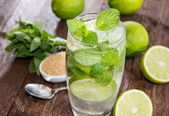 Glass with Mojito — Stock Photo