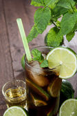 Longdrink in a glass — Stock Photo
