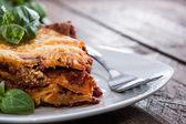 Lasanha caseira em um prato — Foto Stock