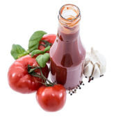 Tomato Ketchup isolated on white — Stock Photo