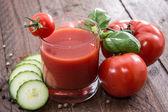Fresh made Tomato Juice — Stock Photo