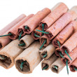 Heap of Firecrackers on white — Stock Photo