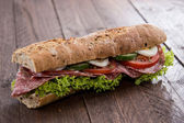 Fresh made Salami Sandwich — Stock Photo