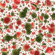Water Melon background (on white) — Stock Photo
