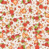 Strawberry background (on white) — Stock fotografie