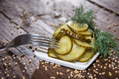 Cucumber with dill — Stock Photo
