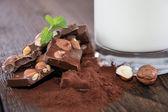 Chocolate and Milk — Stock Photo