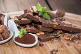 Hazelnut Chocolate — Stock Photo