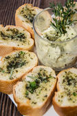 Garlic Bread Appetizer — Stock Photo