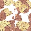 Falling Mixed Cookies as background video — Stock Video