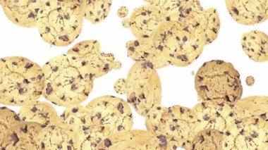 Falling Cookies as background video — Stock Video