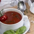 Stock Photo: Fresh made Tomato Soup