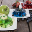Mixed sorts of Jello — Stock Photo