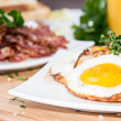 Royalty-Free Stock Photo: Fried Egg with a portion of Bacon