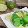 Portion of Lime Jello — Stock Photo