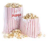 Popcorn bag isolated on white — Stock Photo