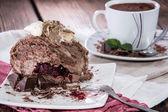Torta al cioccolato fatta fresca — Foto Stock