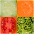 Different Vegetable Backgrounds — Stock Photo #23022468