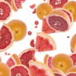 Falling Grapefruits — Stock Video