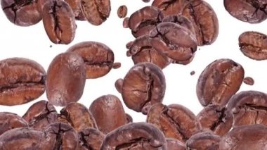 Falling Coffee Beans — Stock Video