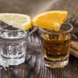 Tequila Gold and Silver — Stock Photo
