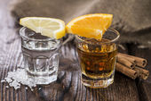 Argento e oro di tequila — Foto Stock