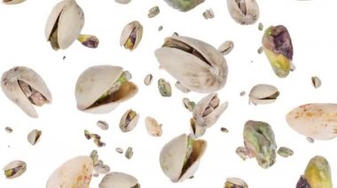 Pistachios falling down — Stock Video