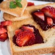 Fresh Toast with Jam (breakfast) — Stock Photo #23586449