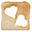 Toast with Hearts — Stock Photo