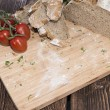 Cutting Board with Bread — Stock Photo