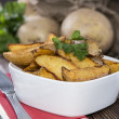 potato wedges — Stock Photo