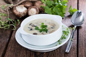 Portion of Mushroom Soup — Stock Photo