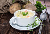 Homemade Potatoe Soup — Stock Photo