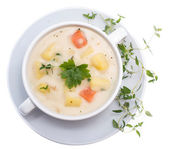 Potatoe Soup isolated on white — Stock Photo
