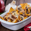 Stock Photo: Nacho gratin with Chili con Carne