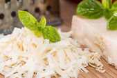 Portion of Parmesan Cheese — Stock Photo