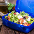 Stock Photo: Healthy Lunchbox with fresh Salad