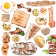 Food Collage (icon size) isolated on white — ストック写真
