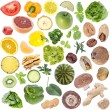 Vegetables Collage (icon size) isolated on white — Stock Photo