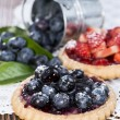 Blueberry and Strawberry Tart — Stock Photo