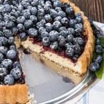 Fresh Blueberry Tart with fruits — Stock Photo #28922235