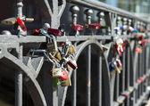 Locks on a bridge — Stock Photo