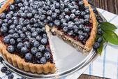 Delicious Blueberry Tart — Stock Photo