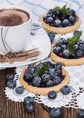 Small Blueberry Tart — Stock Photo