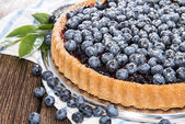 Fresh Blueberry Tart with fruits — Stock Photo