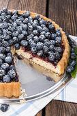 Tarta de arándanos frescos con frutas — Foto de Stock