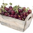 Portion of Cherries on white — Stock Photo