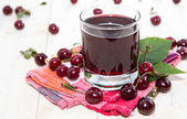 Fresh made Cherry Juice — Stock Photo