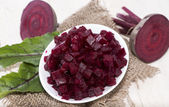 Fresh Beetroot on wooden background — Stock Photo